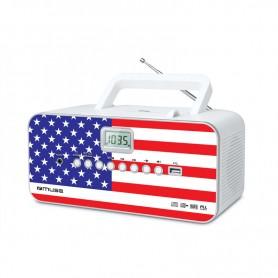 Ραδιόφωνο CD-PLAYER MUSE M-28US Μπαταρίας και Ρεύματος  Ψηφιακό