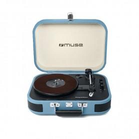 Πικάπ-bluetooth Με USB Muse MT-201BTB Μπλε