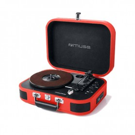 Πικάπ-bluetooth Με USB Muse MT-201BTR Κόκκινο