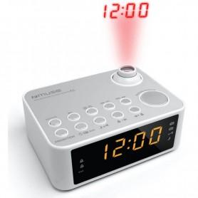 ΡαδιοΡολόι MUSE M-178PW Μπαταρίας Και Ρεύματος Λευκό Ψηφιακό