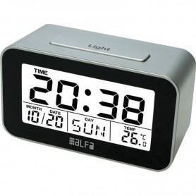 Ρολόι Επιτραπέζιο Ψηφιακό Με Ένδειξη Θερμοκρασίας Silver-Μαύρο