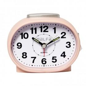 Ρολόι Επιτραπέζιο Αναλογικό ALTC-60169 Αθόρυβο με φωτισμό Ροζ Rubber