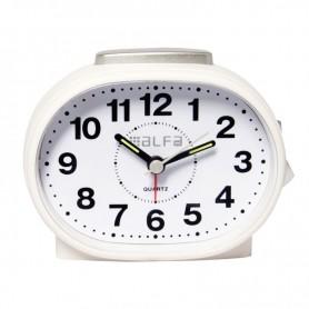 Ρολόι Επιτραπέζιο Αναλογικό ALTC-60170 Αθόρυβο με φωτισμό Κρεμ Λευκό Rubber