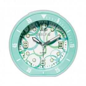 """Ρολόι Επιτραπέζιο Αναλογικό ALTC-60171 Αθόρυβο με φωτισμό """"Decors"""" Βεραμάν Rubber"""