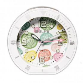 """Ρολόι Επιτραπέζιο Αναλογικό ALTC-60172 Αθόρυβο με φωτισμό """"Decors"""" Λευκό Rubber"""