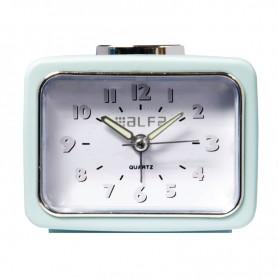 Ρολόι Επιτραπέζιο Αναλογικό ALTC-60167 Αθόρυβο με φωτισμό Βεραμάν Rubber
