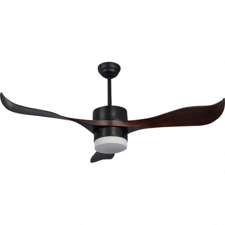 Ανεμιστήρας Οροφής LED PRCF-80437 56'' 140εκ 3 Φτερά 1 Φως Mε R/C Καφέ-Μαύρο