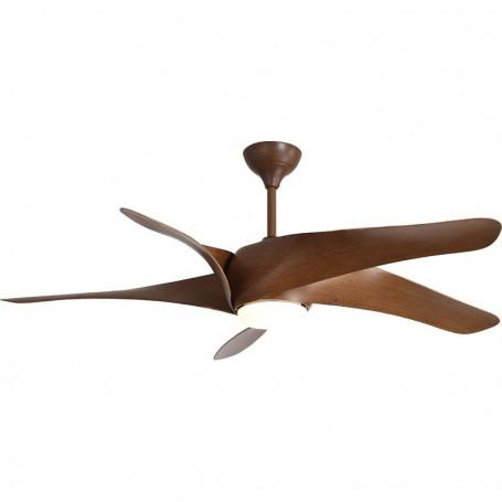 Ανεμιστήρας Οροφής LED PRCF-80439 60'' 150εκ 5 Φτερά 1 Φως ME R/C Καφέ