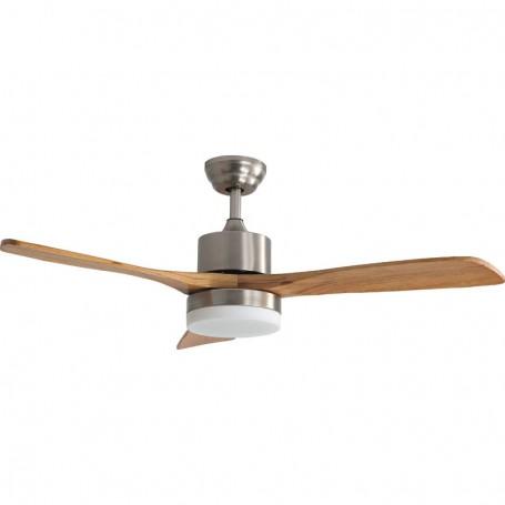 Ανεμιστήρας Οροφής LED PRCF-80442 52'' 130εκ 3 Φτερά Mε R/C Καφέ-INOX