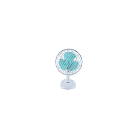 """Ανεμιστήρας Μίνι 2 ΣΕ 1(ΒΑΣΗ+CLIP) PRTF-80404 6"""" 15εκ Λευκό-Πετρόλ"""