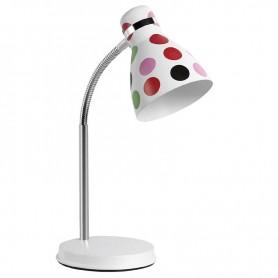 Φωτιστικό Γραφείου Μεταλλικό SUDL-30131 (GX6315)  Λευκό - Πουά Χρωματιστά