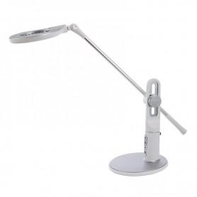 Φωτιστικό Γραφείου LED SUDL-30143 550LM 10W Με διακόπτη αφής, dimmer Και CCT  Λευκό-Ασημί
