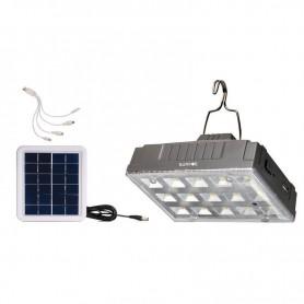 Ηλιακή Λάμπα IS-1376S 15LED Με Θύρα USB Για φόρτιση των συσκευών σας