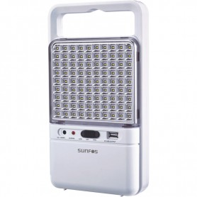 Φωτιστικό Ασφαλείας SUΕL-30145 90LED Με θυρα USB 6V 4.5AH