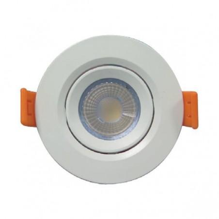 ΣΠΟΤ ΧΩΝΕΥΤΟ LED SMD ΠΛΑΣΤΙΚΟ Φ90 5W 3000K IP20