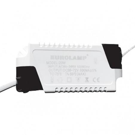 ΤΡΟΦΟΔΟΤΙΚΟ ΓΙΑ LED SLIM PANEL 20W 85-265V AC 300mA