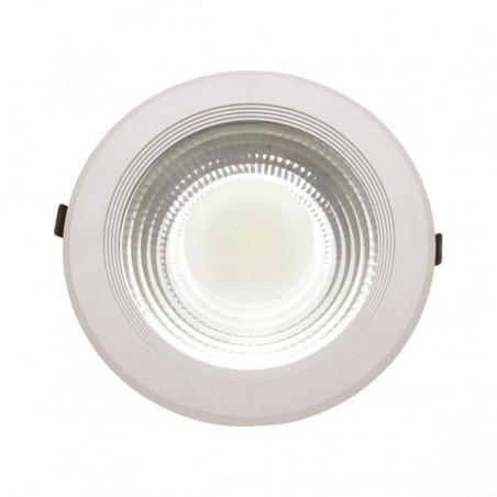 ΦΩΤΙΣΤΙΚΟ COB LED ΧΩΝΕΥΤΟ Φ220 30W 6500K AC170-265V ΛΕΥΚΟ PLUS