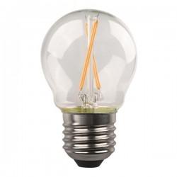ΛΑΜΠΑ LED ΣΦΑΙΡΙΚΗ CROSSED FILAMENT 6.5W E27 3000K 220-240V DIMMABLE CLEAR