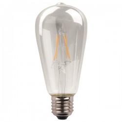 ΛΑΜΠΑ LED ST64 CROSSED FILAMENT 11W E27 3000K 220-240V DIMMABLE CLEAR
