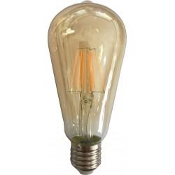 ΛΑΜΠΑ LED ST64 FILAMENT 10W E27 2500K 220-240V GOLD DIMMABLE