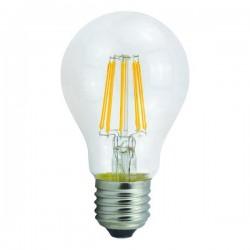 ΛΑΜΠΑ LED ΚΟΙΝΗ FILAMENT 6W E27 6500K 220-240V CLEAR