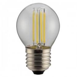 ΛΑΜΠΑ LED ΣΦΑΙΡΙΚΗ FILAMENT 4W E27 6500K 220-240V DIMMABLE CLEAR