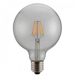 ΛΑΜΠΑ LED ΓΛΟΜΠΟ G125 FILAMENT 8W Ε27 6500K 220-240V DIMMABLE CLEAR