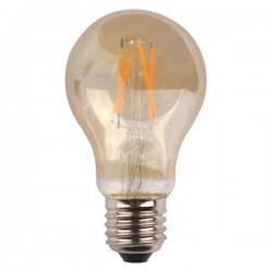ΛΑΜΠΑ ΚΟΙΝΗ LED CROSSED FILAMENT 7W E27 2400K 220-240V GOLD GLASS DIMMABLE
