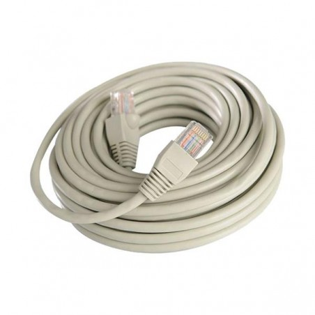 PATCH CORD  UTP CAT-5e 26AWG ΓΚΡΙ 10m